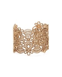 Forever 21 - Metallic Etched Filigree Wrist Cuff - Lyst