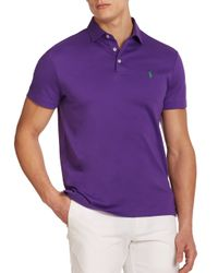 Polo Ralph Lauren | Purple Pima Soft-touch Polo for Men | Lyst