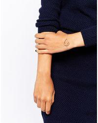 Daisy London | Pink Laura Whitmore Rose Gold Charm Bracelet | Lyst