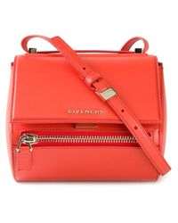 Givenchy - Orange Pandora Small Calf-Leather Shoulder Bag - Lyst