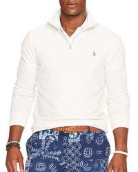 Ralph Lauren | White Polo Half-zip Pima Mockneck Pullover for Men | Lyst