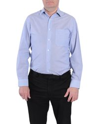 Double Two - Blue Stripe Classic Collar Formal Shirt for Men - Lyst