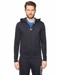 EA7 - Blue Cotton Sweatshirt & Jogging Pants for Men - Lyst