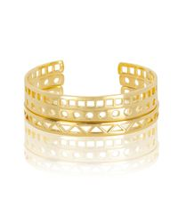 Arme De L'Amour | Metallic Geometric Cut Out Bracelets | Lyst
