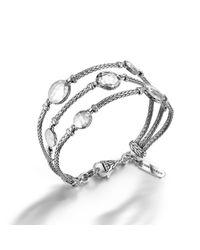 John Hardy | Metallic Palu Silver Three-row Multi Station Bracelet | Lyst