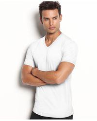 Calvin Klein | White Men's Stretch-cotton V-neck T-shirt 2-pack for Men | Lyst