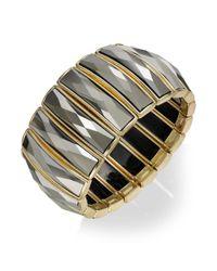 INC International Concepts - Red Gold-tone Hematite Baguette Stretch Bracelet - Lyst