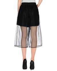 MSGM - Black 3/4-length Trousers - Lyst