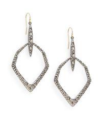 Alexis Bittar - Metallic Miss Havisham Kinetic Gun Swarovski Crystal Hexagon Drop Earrings/silvertone - Lyst