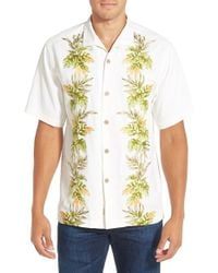Tommy Bahama - White 'dancing With The Leis' Original Fit Embroidered Silk Camp Shirt for Men - Lyst