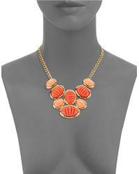 Trina Turk | Orange Cabochon Statement Necklace | Lyst