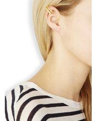 Maria Black | Metallic Double Sane Gold Plated Ear Cuff | Lyst