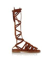 Manolo Blahnik | Brown Martihizi Gladiator Sandals | Lyst