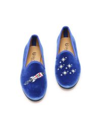 Del Toro - Space Ship Smoking Slippers - Brilliant Blue - Lyst