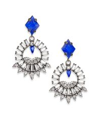 DANNIJO | Metallic Avril Crystal Drop Earrings | Lyst