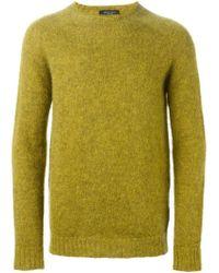 Roberto Collina - Green Crew Neck Sweater - Lyst
