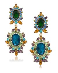 Carolee | Multicolor Multi-stone Clip-on Drop Earrings | Lyst