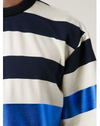 Juun.J - Blue Stripes Metallic T-Shirt for Men - Lyst