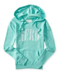 Aéropostale | Blue Aero Lace Popover Hoodie | Lyst