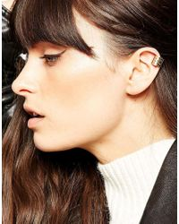 ASOS - Metallic Single Hammered Ear Cuff - Lyst