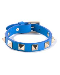 Valentino | Blue Studded Cuff | Lyst