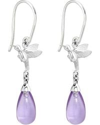 Theo Fennell | Purple Sterling Silver And Amethyst Earrings - For Women | Lyst