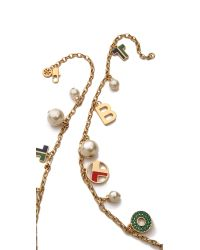 Tory Burch - Multicolor Theresa Charm Rosary Necklace Multishiny Brass - Lyst