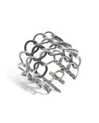 John Hardy | Metallic Classic Chain Open Link Bracelet With Black Sapphire | Lyst