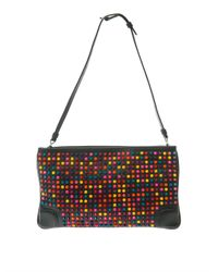 Christian Louboutin - Black Loubiposh Spike Leather Clutch - Lyst