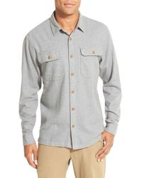 Patagonia | Gray 'fjord' Regular Fit Organic Cotton Flannel Shirt for Men | Lyst