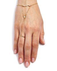 Rebecca Minkoff - Metallic Geometric Hand Chain - Lyst