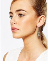 Coast - Metallic Gold Sparkle Chain Earrings - Lyst