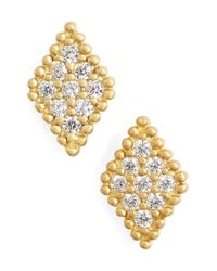 Freida Rothman | Metallic 'femme' Stud Earrings | Lyst