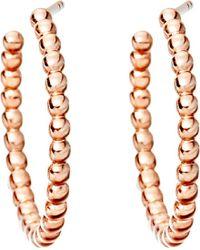 Astley Clarke | Pink Beaded 14ct Rose Gold-plated Sterling Silver Hoop Earrings | Lyst