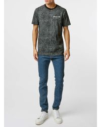 Nicce London | Black Cracked T-shirt for Men | Lyst