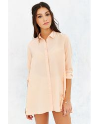 BDG - Pink Charlie Button-down Shirt - Lyst