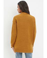 Forever 21 | Orange Longline Wool-blend Sweater | Lyst