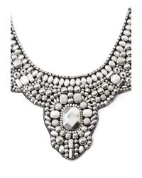 Forever 21 | Metallic Beaded Statement Bib Necklace | Lyst