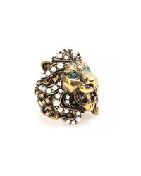 Gucci | Metallic Embellished Ring | Lyst