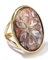 Ippolita | Metallic 18K Gold Polished Rock Candy Oval Cutout Ring In Sabbia | Lyst
