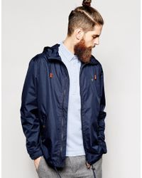 half off reliable quality fashion styles Men's Blue Rain Jacket With Hood
