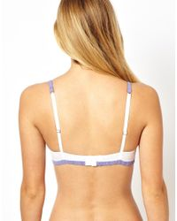 ASOS | White Boudoir Geo Lace Contrast Lace Underwired Bra | Lyst