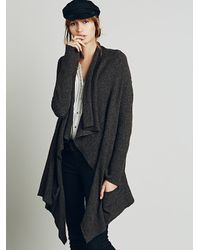 Free People | Brown Womens Waterfall Cardi | Lyst