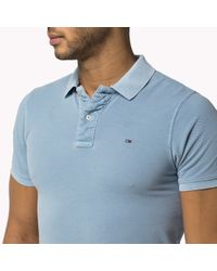 Tommy Hilfiger | Blue Cotton Garment Dyed Polo for Men | Lyst