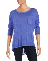 Calvin Klein | Purple Dolman Sleeved Tee | Lyst