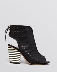 House of Harlow 1960 | Black Open Toe Booties Rilie | Lyst