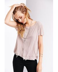 Truly Madly Deeply - Gray Destroyed Layered Tee - Lyst