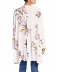 Free People | White Printed Swing Top | Lyst