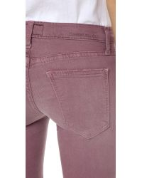 Current/Elliott | Purple The Stiletto Jeans | Lyst