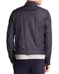Moncler - Blue Zip-front Flight Jacket for Men - Lyst